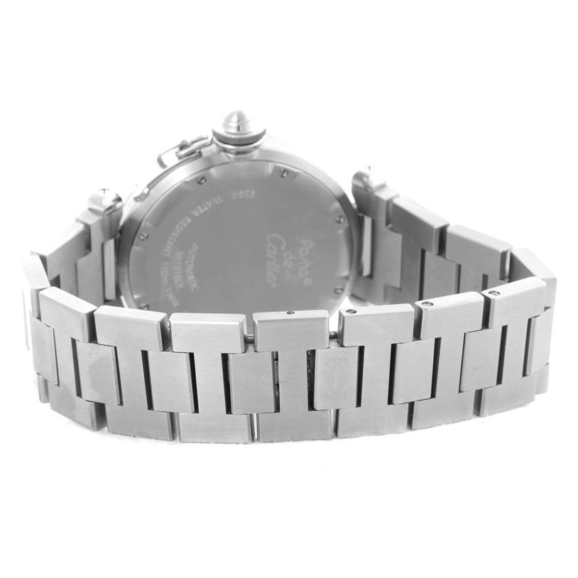 10860 Cartier Pasha Pink Dial Stainless Steel Women's Watch W31075M7 SwissWatchExpo