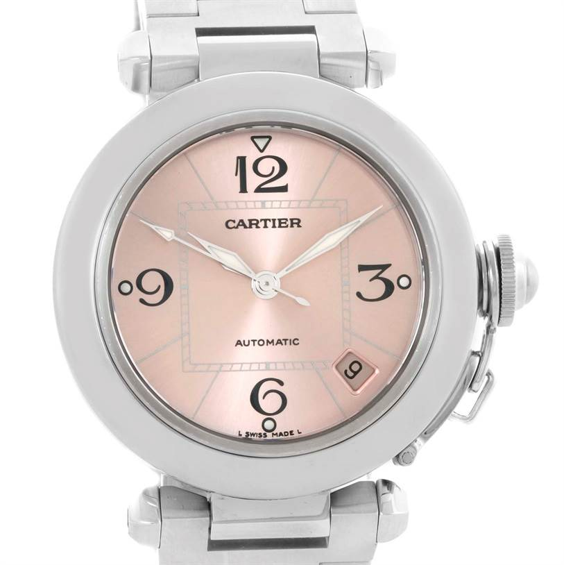 10860 Cartier Pasha Pink Dial Stainless Steel Women's Watch W31075M7 SwissWatchExpo