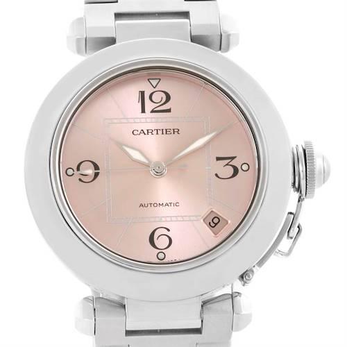 Photo of Cartier Pasha C Steel Pink Dial Ladies Watch W31075M7