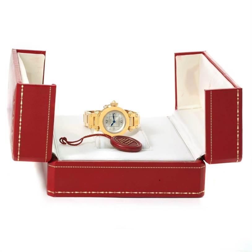 12326 Cartier Miss Pasha Small 18K Yellow Gold Diamond Watch WJ124015 SwissWatchExpo