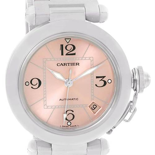 Photo of Cartier Pasha C Stainless Steel Pink Dial Ladies Watch W31075M7