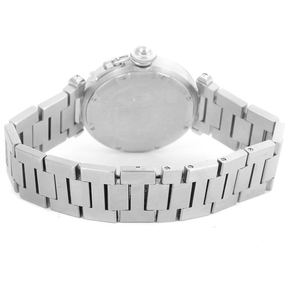 13406 Cartier Pasha C Steel Pink Dial Medium Ladies Watch W31075M7 SwissWatchExpo