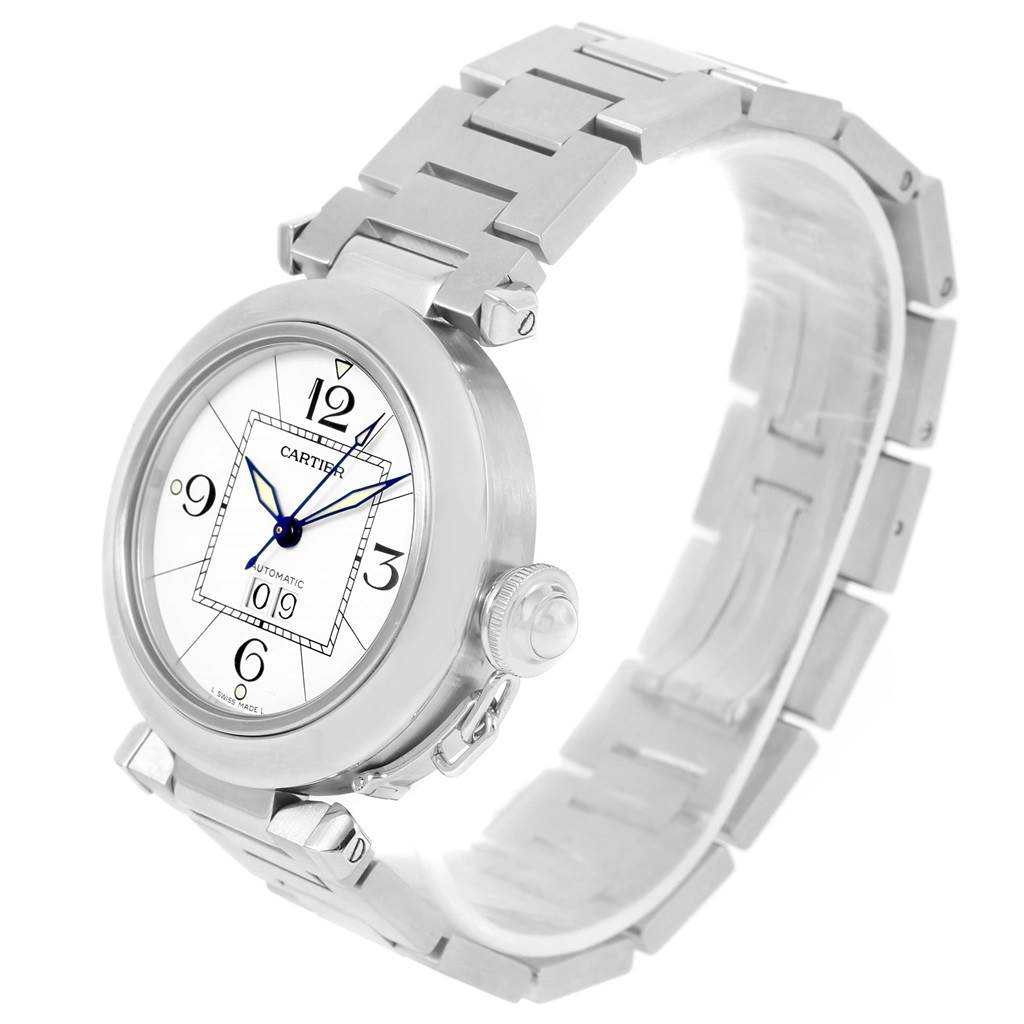 13421 Cartier Pasha C Midsize Big Date Stainless Steel Unisex Watch W31055M7 SwissWatchExpo