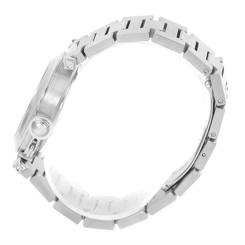 Cartier Pasha C Midsize Big Date Stainless Steel Unisex Watch W31055M7 SwissWatchExpo