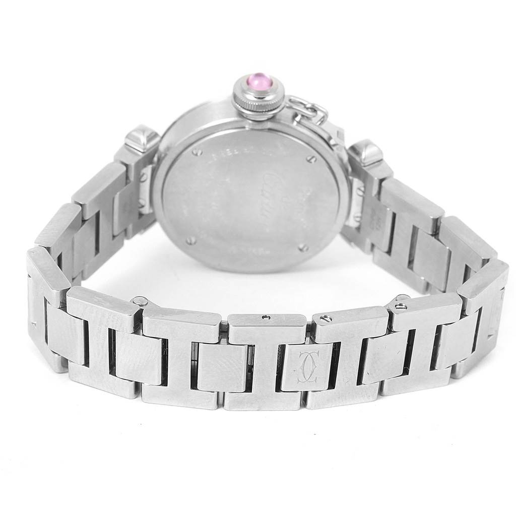 12569 Cartier Miss Pasha Small Steel Pink Dial Quartz Watch W3140008 SwissWatchExpo
