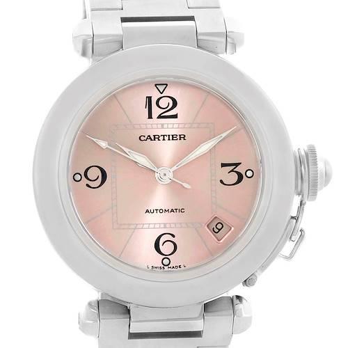 Photo of Cartier Pasha C Pink Dial Midsize Steel Ladies Watch W31075M7