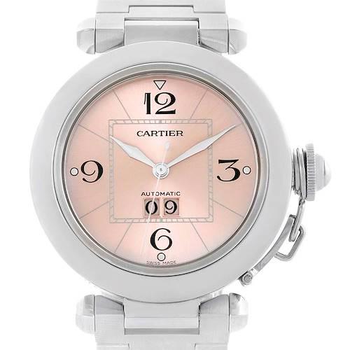 Photo of Cartier Pasha Midsize Pink Dial Steel Ladies Watch W31058M7
