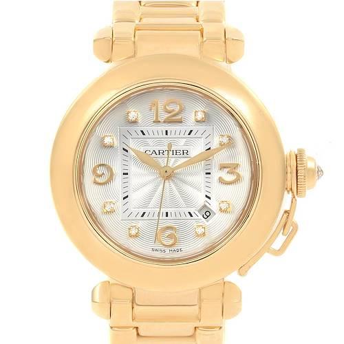 Photo of Cartier Pasha 32 18K Yellow Gold Diamond Automatic Ladies Watch 2397