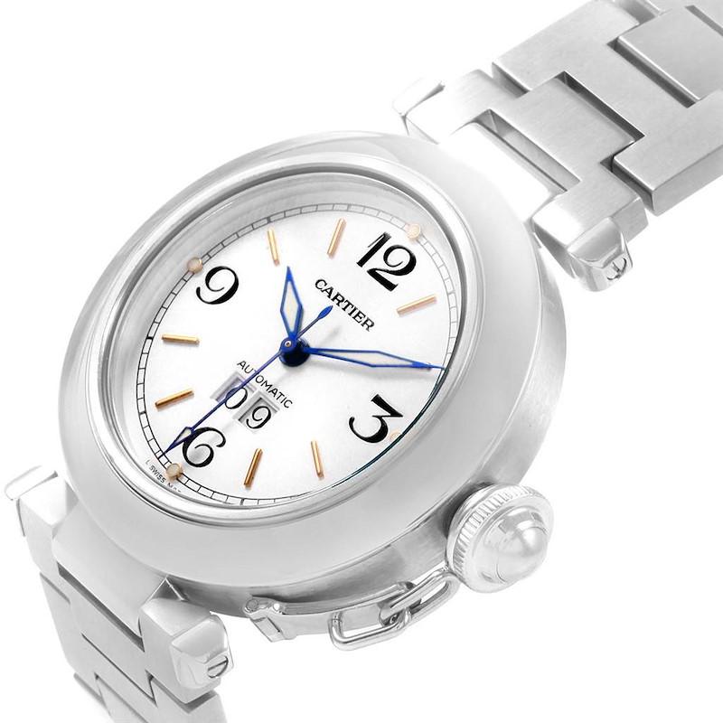 Cartier Pasha C Midsize Big Date Automatic Steel Watch W31044M7 SwissWatchExpo