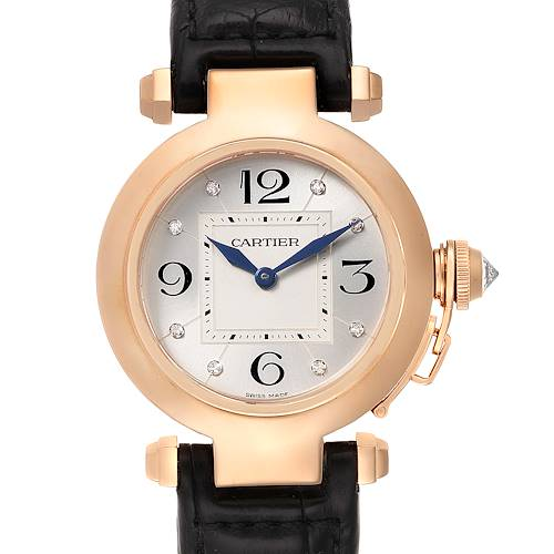 Photo of Cartier Pasha 32 Rose Gold Diamond Automatic Ladies Watch WJ11913G