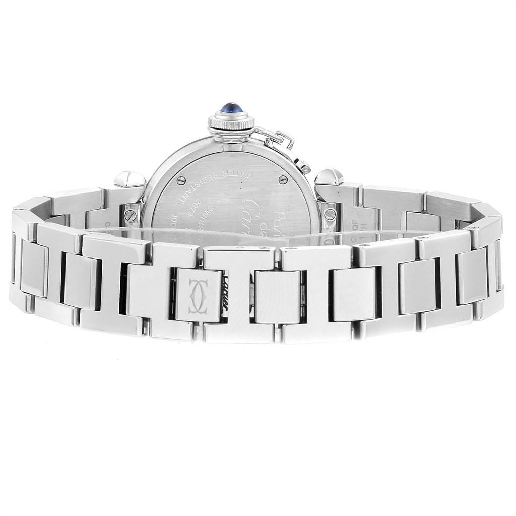 Cartier Miss Pasha Steel Silver Dial Quartz Ladies Watch W3140007 SwissWatchExpo
