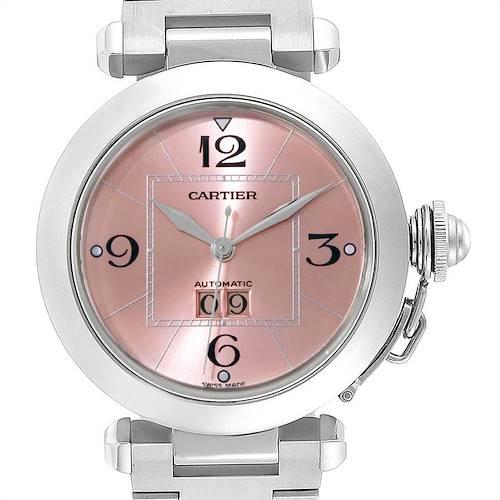 Photo of Cartier Pasha Big Date 35mm Pink Dial Steel Ladies Watch W31058M7