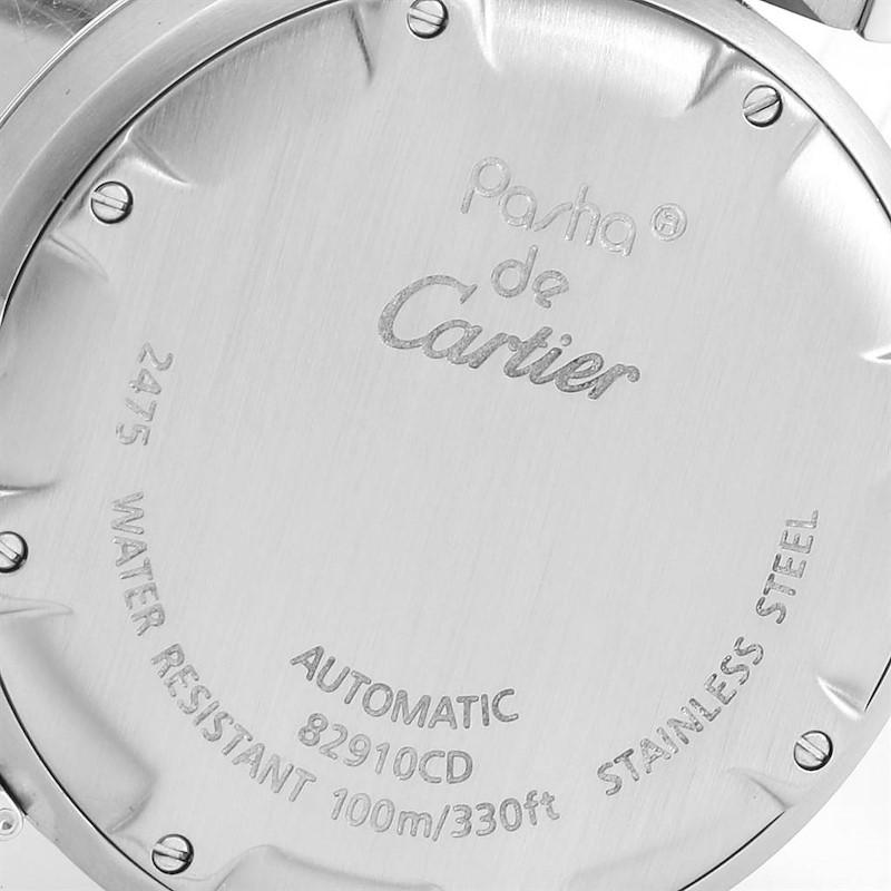 Cartier Pasha C Midsize 35mm Big Date Stainless Steel Watch W31044M7 SwissWatchExpo