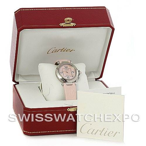 4473 Cartier Pasha Ladies W3109599 Limited Edition Mother Of Pearl Watch SwissWatchExpo