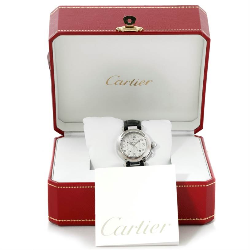 8292 Cartier Pasha 32mm 18K White Gold Diamond Watch WJ11902G SwissWatchExpo