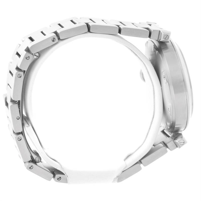 Cartier Pasha C Steel Salmon Grid Dial Watch W31023M7 SwissWatchExpo