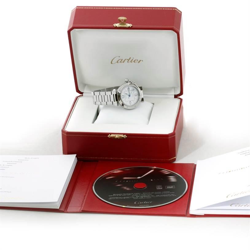 8837 Cartier Pasha C Medium Automatic Steel Watch W31074M7 SwissWatchExpo
