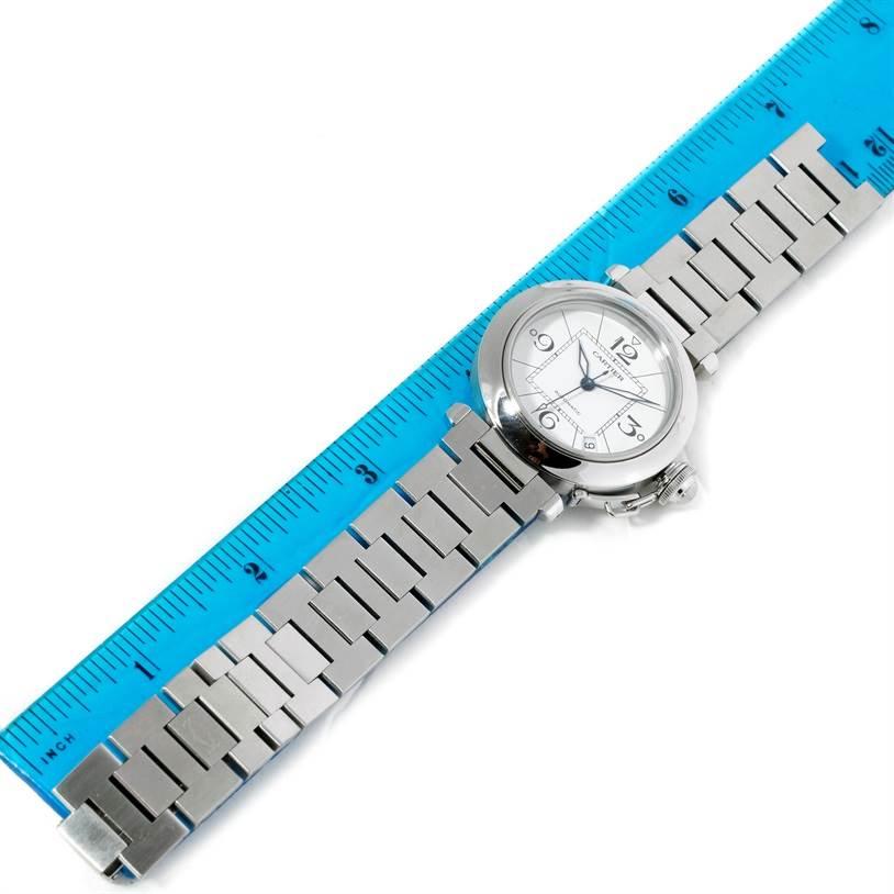 8999 Cartier Pasha C Medium Automatic Steel Watch W31074M7 SwissWatchExpo