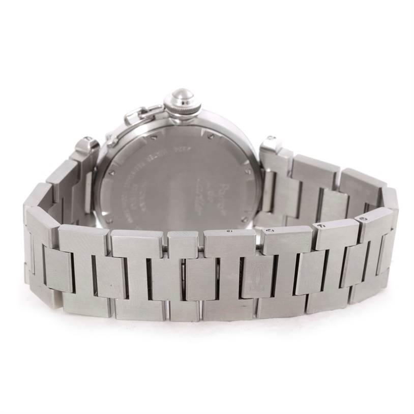 9804 Cartier Pasha C Medium Automatic Steel Watch W31074M7 SwissWatchExpo