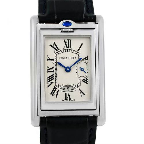 Photo of Cartier Tank Basculante Steel Silver Dial Mens Watch 2522