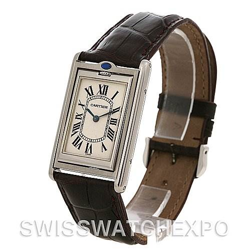 2487 Cartier Tank Basculante Steel Large Mechanical W1011358 SwissWatchExpo