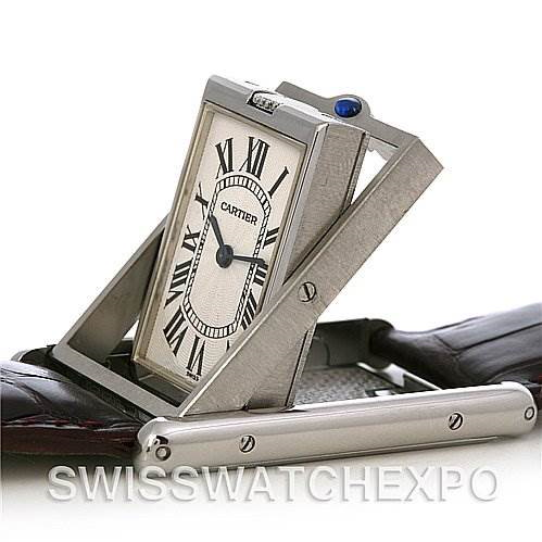 Cartier Tank Basculante Steel Large Mechanical W1011358 SwissWatchExpo