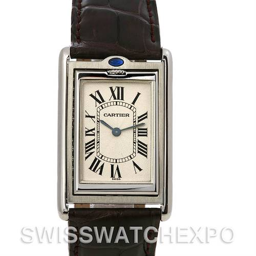 Photo of Cartier Tank Basculante Steel Large Mechanical W1011358