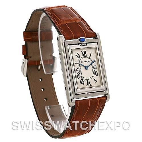 Cartier Tank Basculante Stainless Steel Medium Quartz Watch SwissWatchExpo