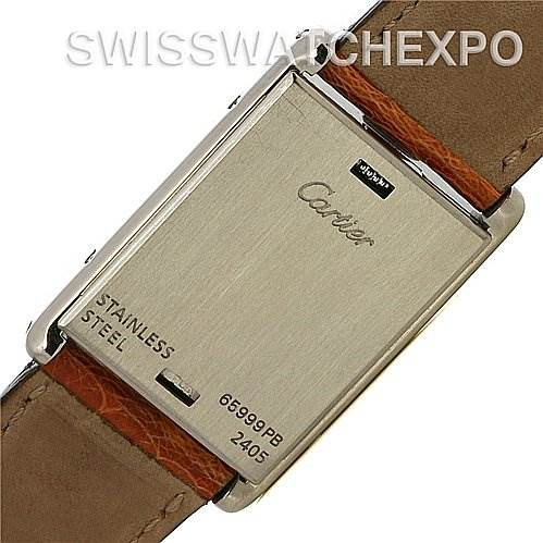 Cartier Tank Basculante Stainless Steel Medium Quartz Watch SwissWatchExpo