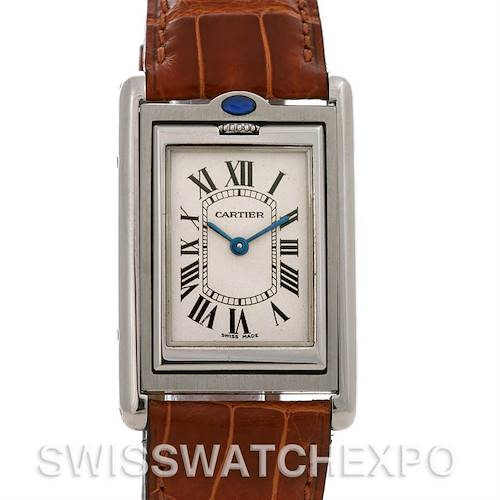 Photo of Cartier Tank Basculante Stainless Steel Medium Quartz Watch