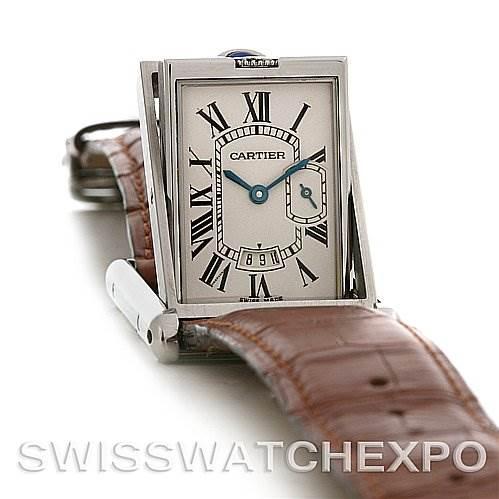 Cartier Tank Basculante Stainless Steel Large Quartz Watch SwissWatchExpo