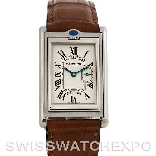 Photo of Cartier Tank Basculante Stainless Steel Large Quartz Watch
