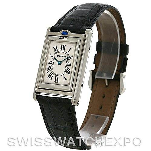 Cartier Tank Basculante Stainless Steel Quartz Watch SwissWatchExpo