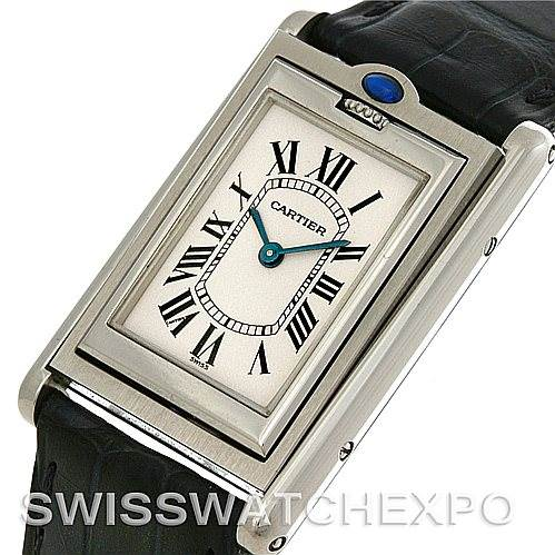 4454 Cartier Tank Basculante Stainless Steel Quartz Watch SwissWatchExpo