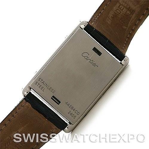 4454 Cartier Tank Basculante Stainless Steel Quartz Watch SwissWatchExpo
