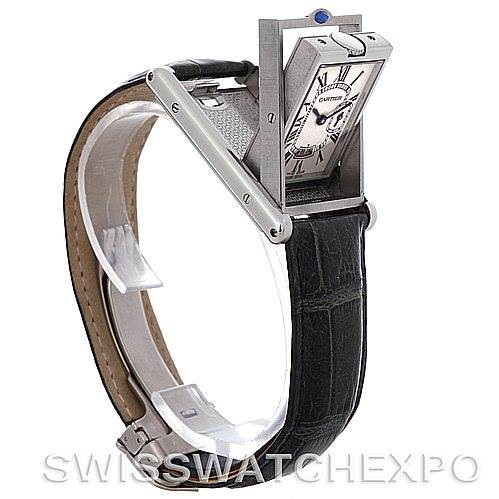 Cartier Tank Basculante Stainless Steel Large Quartz Watch SwissWatchExpo