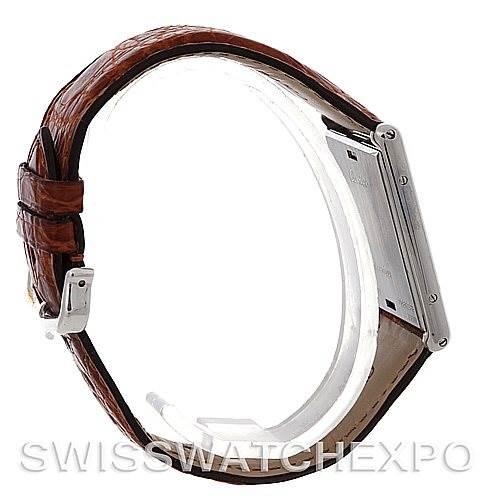 Cartier Tank Basculante Mechanical Steel Large Watch SwissWatchExpo