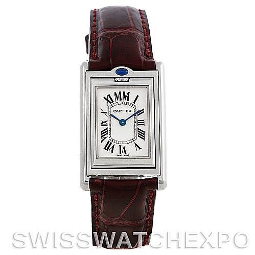 Cartier Tank Basculante Stainless Steel Small Quartz LE Watch 2405 SwissWatchExpo