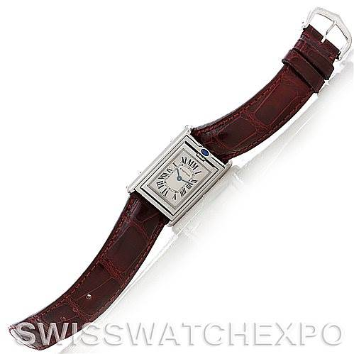 5780 Cartier Tank Basculante Stainless Steel Small Quartz LE Watch 2405 SwissWatchExpo
