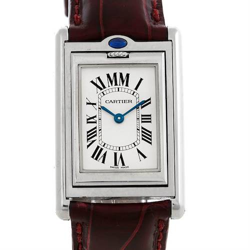 Photo of Cartier Tank Basculante Stainless Steel Small Quartz LE Watch 2405