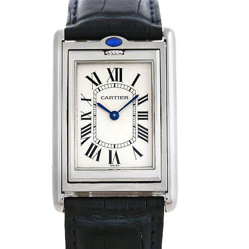 Photo of Cartier Tank Basculante Steel Large Mechanical Watch W1011358
