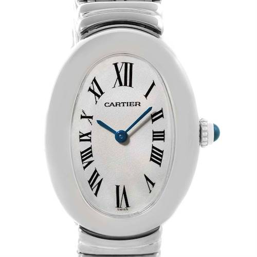 Photo of Cartier Baignoire Ladies 18k White Gold Watch W15133L2