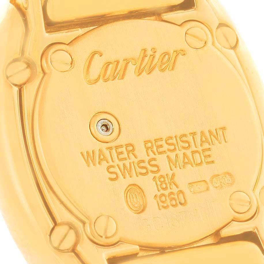 10819 Cartier Baignoire 18K Yellow Gold Diamond Ladies Watch WB5094D8 SwissWatchExpo