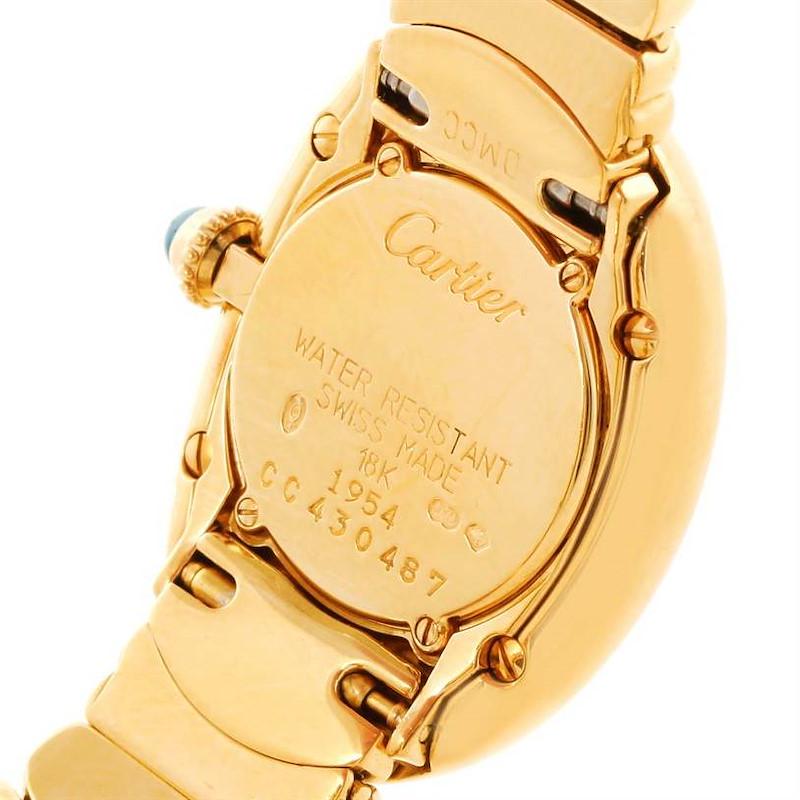 Cartier Baignoire 18k Yellow Gold Ladies Quartz Watch SwissWatchExpo