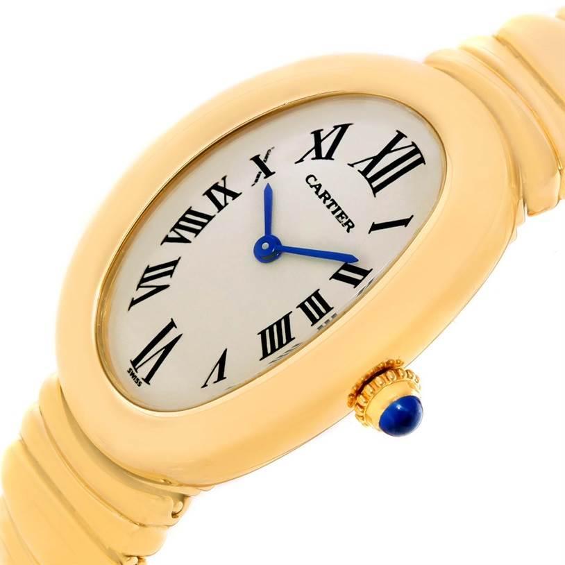 11913 Cartier Baignoire 18k Yellow Gold Ladies Quartz Watch SwissWatchExpo