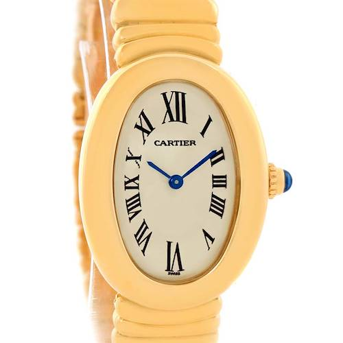Photo of Cartier Baignoire 18k Yellow Gold Ladies Quartz Watch