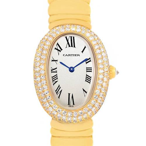 Photo of Cartier Baignoire Joaillerie 18K Yellow Gold Diamond Ladies Watch 1950