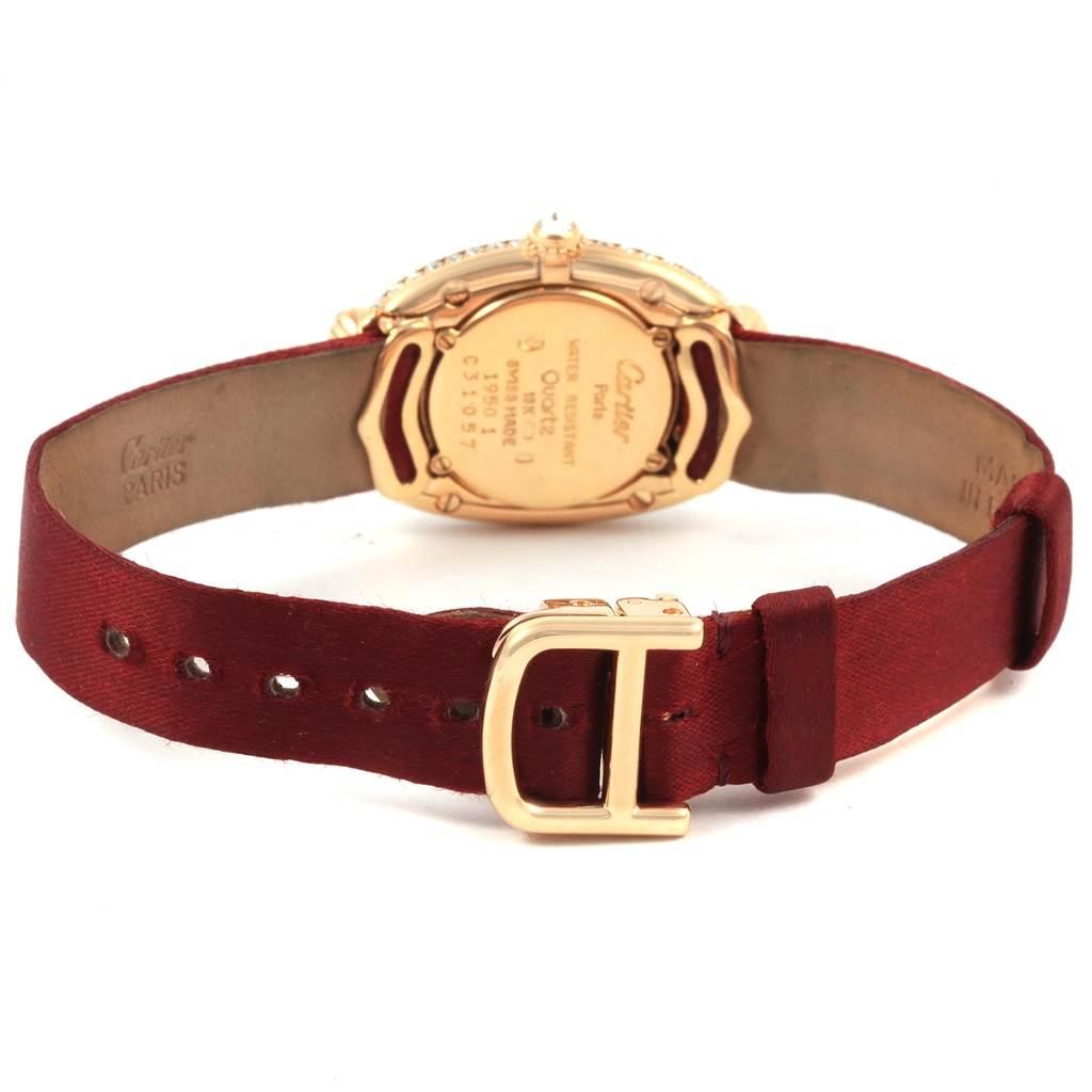 21174 Cartier Baignoire Tutti Frutti Yellow Gold Ruby Sapphire Diamond Watch SwissWatchExpo