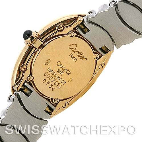 Cartier Baignoire Ladies Steel 18k Yellow Gold W15045d8 Watch SwissWatchExpo