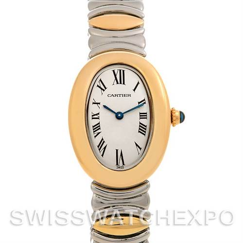 Photo of Cartier Baignoire Ladies Steel 18k Yellow Gold W15045d8 Watch